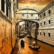 Amazing Venice on sunset. bridge of sights — Stock Photo