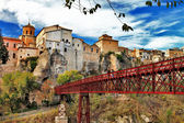 Beautiful Cuenca, Spain, view with bridge — Stock Photo