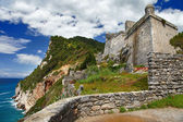Pictorial Italy series - Portovenere. castle on cliff — Stock Photo