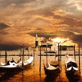 Pôr do sol em veneza — Foto Stock