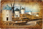 Medieval Spain - windmills in Consuegra — Stock Photo