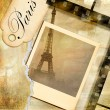 Stock Photo: Parisian memories - retro photoalbum