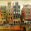 Amsterdam - retro styled picture - Foto de Stock  