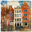 Amsterdam - artwork in painting style — Foto de Stock