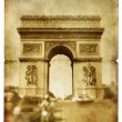 Parisian retro cards series - Arc de Triumph - Stock Photo