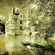 Azey-le-redeau castle - Stock Photo