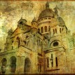 Sacre coeur - artwork in painting style - Stock Photo
