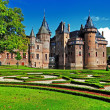 Beautiful romantic holland castle de Haar - Stock Photo