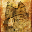 Royalty-Free Stock Photo: Medieval castle - toned picture in retro style