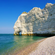 Beautiful scene of Etretat rocks (Normandy, France) - Stock Photo