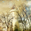 Fairy winter castle — Stockfoto