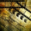 Stock Photo: Retro movies background