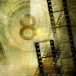 Vintage movies background - Stock Photo