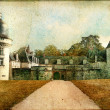Stock Photo: Gue-Pecastle (Loire valley) - artistic vintage picture