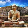Buddha in Polonnaruwa temple - medieval capital of Ceylon,UNESCO World Heritage Site - Stock Photo