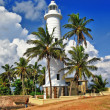 Pictorial view of light houe - Galle fort (Sri Lanka) — Stock Photo
