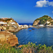 Travel in Italy series - view of sant-angelo, Ischia island - Stock Photo