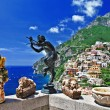 Pictorial sunny Italy series - beautiful Positano - Stock Photo