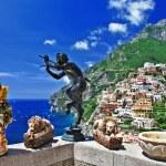 Pictorial sunny Italy series - beautiful Positano — Stock Photo