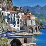 Stanning Amalfi coast - Atrani village — Stock Photo