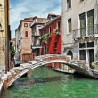 Romantic Venetian canals — Stock Photo