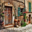 Charming streets of old mediterranean towns — Stock Photo #12768652