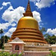 Golden stupa in Dambulla Sri lanka  — Stock Photo