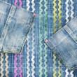 Fondo de moda jeans con bolsillos — Foto de Stock