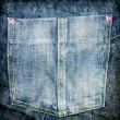 Jeans texture with pocket — Stock Photo