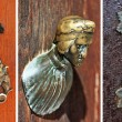 Set of beautiful old door knobs from Venice - Stock Photo