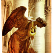Praying angel - artistic picture in retro style — Stockfoto