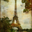 Heart of Paris - vintage card — Stock Photo #12768767