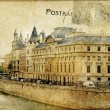 Vintage Parisian cards series — Stock Photo
