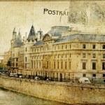 Vintage Parisian cards series — Stock Photo