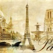 Old beautiful Paris - artistic clip-art from my vintage series — Stok Fotoğraf #12768797