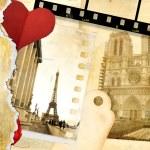 Love Paris - vintage photo-album — Stock Photo #12768808
