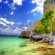 Pictorial scene of rocky tropical beach — Stock Photo #12768852