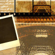 Stock Photo: Old photo album - memories about Paris