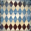 Retro denim background with rhombus patterns - Stock Photo