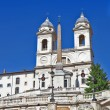 Roman landmarks - Spanish steps - Stock Photo