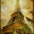 Eiffel tower - Parisian details - vintage series — Stock Photo