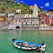 Colors of sunny Italy - famous Cinque terre - Vernazza — Stock Photo