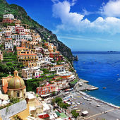 Beautiful Positano. Amalfi coast. bella italia series — Stock Photo