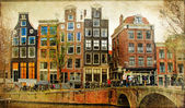 Amsterdam - retro styled picture — Stock Photo