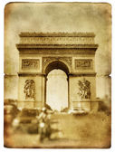 Parisian retro cards series - Arc de Triumph — Stock Photo