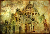 Sacre coeur - artwork in painting style — Stock Photo