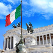 Piazza Venezia Rome, Italy. Capitoline — Stock Photo