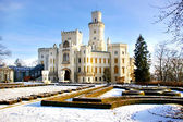 Romantic white castle (Czechia) — Стоковое фото
