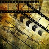 Retro movies background — Stock Photo