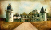 Gue-Pean castle (Loire valley) - artistic vintage picture — Stock Photo